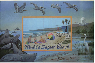 World's Safest Beach Mural