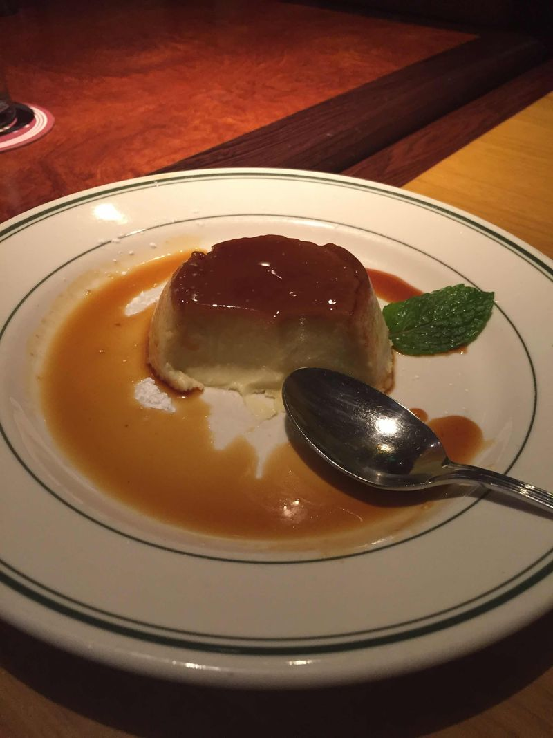 Crème Caramel at Sly's -half eaten copy