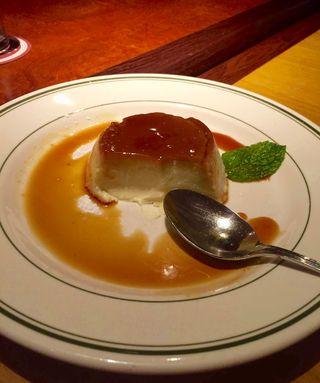 Crème Caramel at Sly's -half eaten