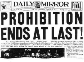 Prohibition End's at Last!