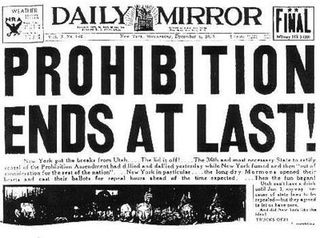 Prohibition Ends
